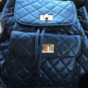 Handbags - Quilted Leather Backpack/bag