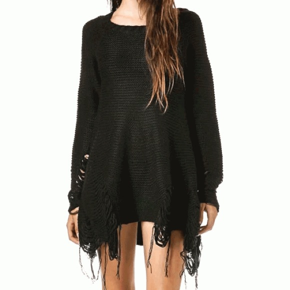 Bad Joan ...it's good to be bad!: get that look: SHREDDED SWEATER