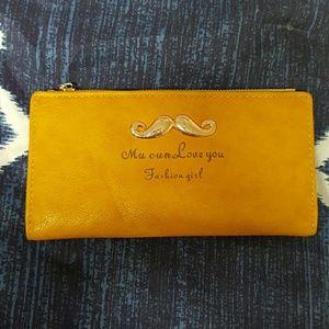 mustache wallet ???? NWOT