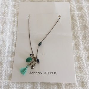 Green / copper necklace w/dripping accents