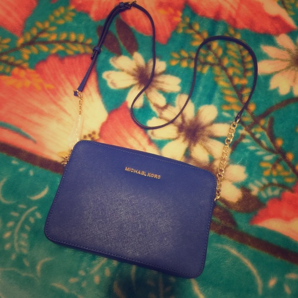 2f441beb1a9c Michael Kors Bags | Electric Blue Leather Crossbody | Poshmark
