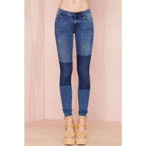 Just Female Denim Patched Jeggings