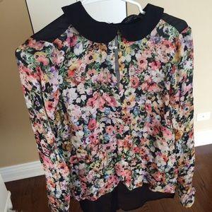 Tops - Silk floral shirt