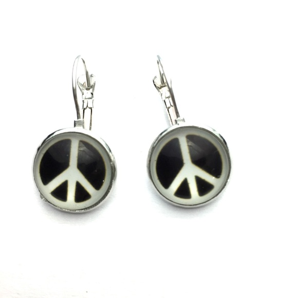 Download Peace symbol French dangle earrings OS from Abbey's closet ...