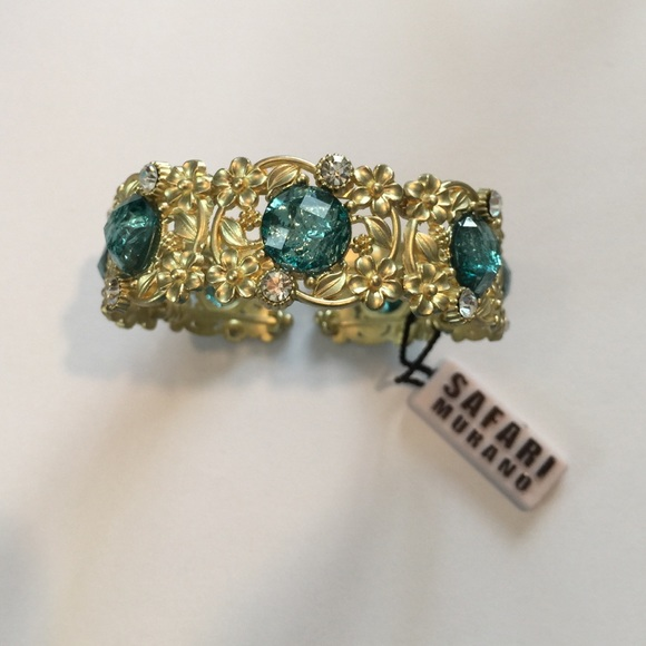 Safari murano jewelry new with tags enameled cuff bracelet poshmark - Safari murano jewelry ...
