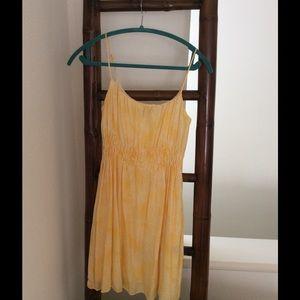 Cynthia Steffe Yellow Silk Floral Dress 4