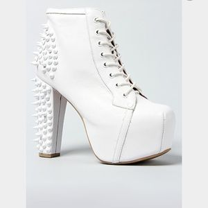 Jeffrey Campbell spike shoes in white