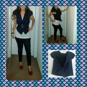 she said Jackets & Blazers - Navy blue sailor blazor jacket with buttons