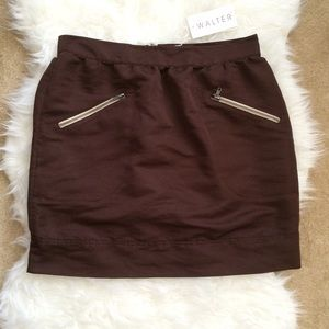 Walter by Walter Baker BB Brown Bengaline Skirt