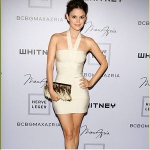 Nude Herve Leger Dress