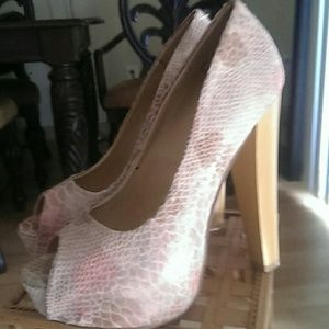 JustFab Shoes - Pastel faux animal print heels.