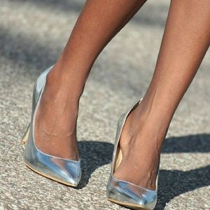 Silver metallic heels from Just Fab.