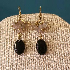 Jill Marie Boutique Jewelry - Stone beaded dangle earrings NWT