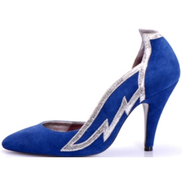 Kathryn Amberleigh Shoes - Kathryn Amberleigh Angelika Suede Wing Pumps