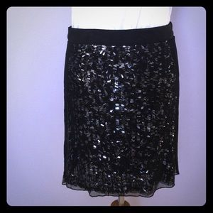Banana Republic Monogram Sequin Skirt