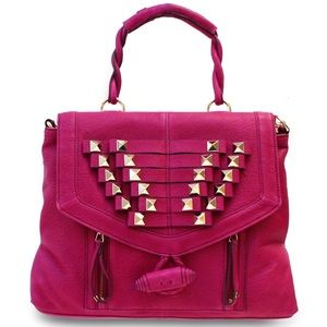 Hype Rebecca Top Handle Satchel - Hibiscus