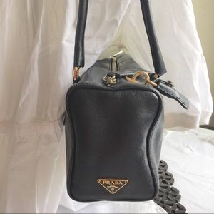 Prada Vintage Safflano Calf Leather Tote Black