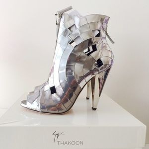 Giuseppe for Thakoon Mirror Mosaic Ankle Boots