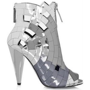 Giuseppe Zanotti Shoes - Giuseppe for Thakoon Mirror Mosaic Ankle Boots