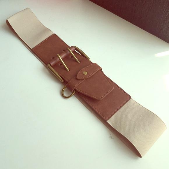 target wide brown stretch statement belt from hiedi s
