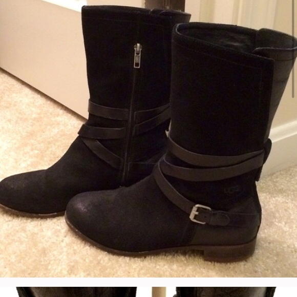 Black Uggs with buckles