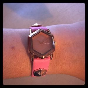 Rumba Pink Rose Gold Stud Watch