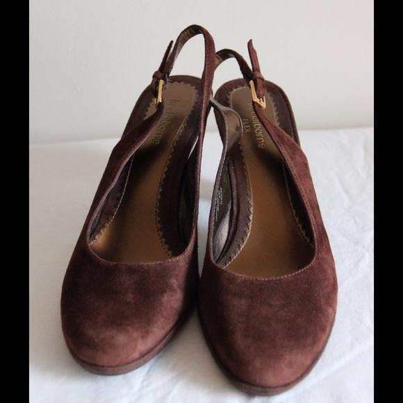liz claiborne brown suede liz claiborne heels from chic