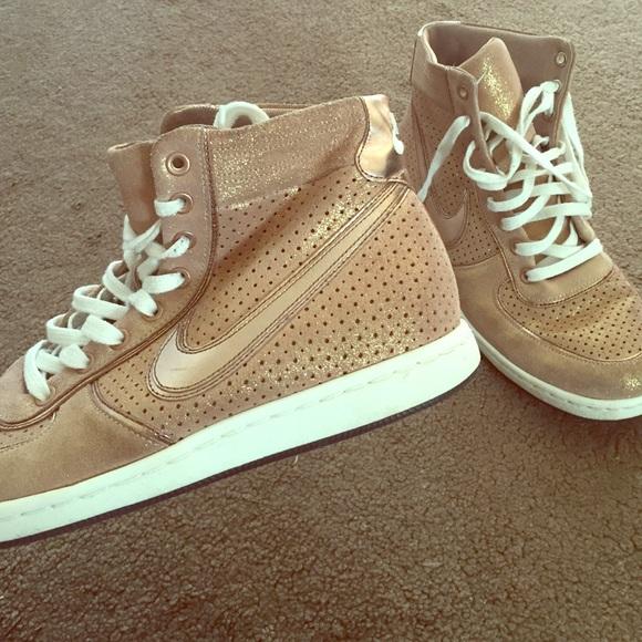 Rose Gold Nike Air High Tops | Poshmark