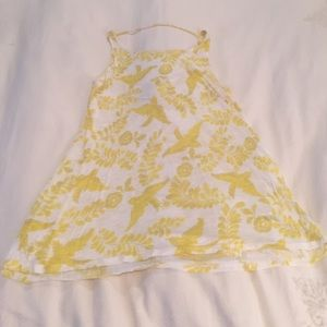Ella Moss Yellow and White Top