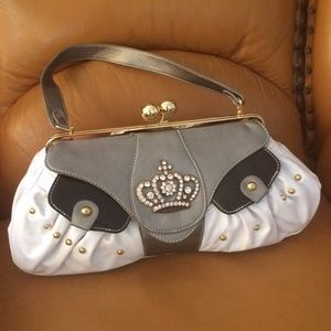 crown purse bauble satchel kiss lock