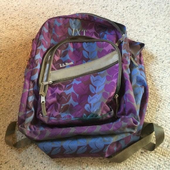 Monogrammed LL Bean Backpack