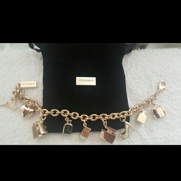 79b44eaa Dolce & Gabbana Jewelry | Dolce Gabbana Gold Charm Bracelet | Poshmark