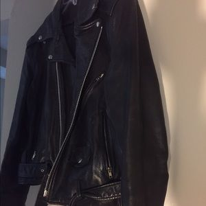 Women's Leather Black Biker Jacket.