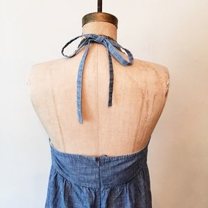 🆕 gap || chambray halter dress