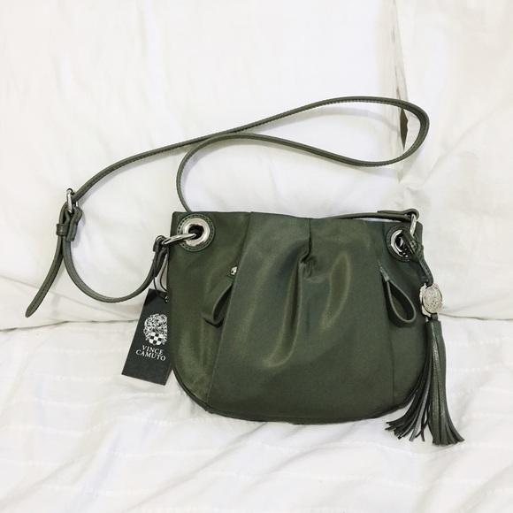 0f48796075e7 NWT vince camuto green nylon crossbody bag