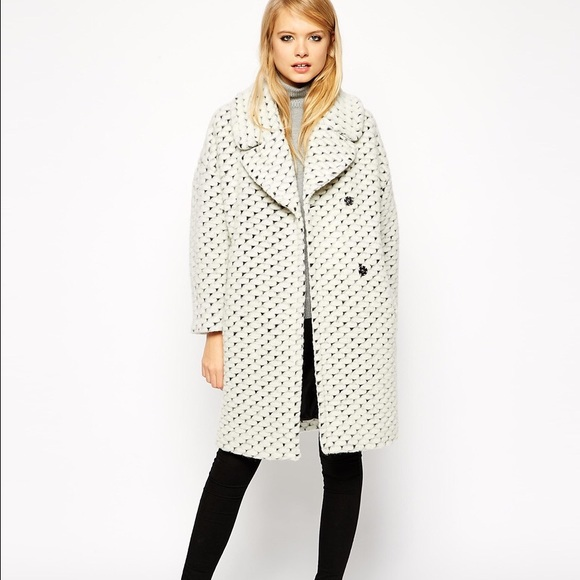 fc05d075ac7 ASOS coat with cocoon fit in texture