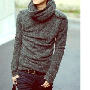 Other - Cowl Neck Cashmere Blend Mens Unisex Sweater