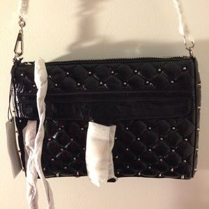 Studded Rebecca Minkoff MAC - Black Quilted