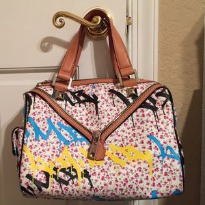 L.A.M.B. Worthington ditsy graffiti satchel