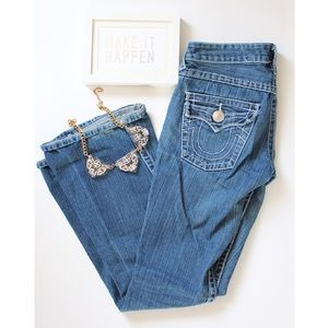 True Religion Medium Wash Flared Jeans