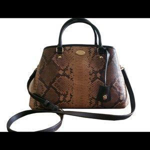 59513228cfc3 Coach Bags - Coach snake animal print leather bag