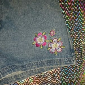 Vintage High Waisted Embroidered Shorts
