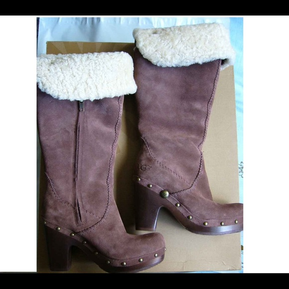 New UGG Lillian Chocolate Boots