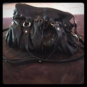 Junior Drake Black buttery soft leather bag