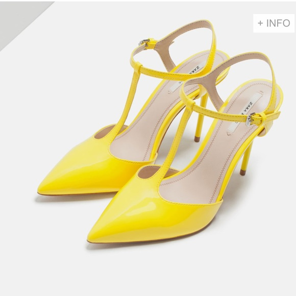 40% off Zara Shoes - Zara pointy heels in neon yellow size 9 or 40 ...