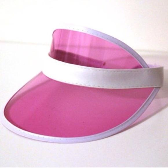 f2c3ece9 American Apparel Accessories | 90s Clear Pink Visor | Poshmark