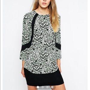 Crepe Dress in Leopard Moth Print