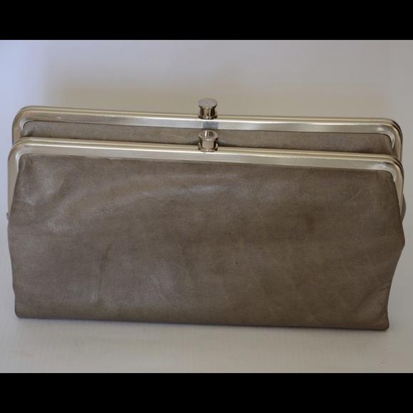 grey hobo lauren double frame clutchwallet - Double Frame Clutch Wallet
