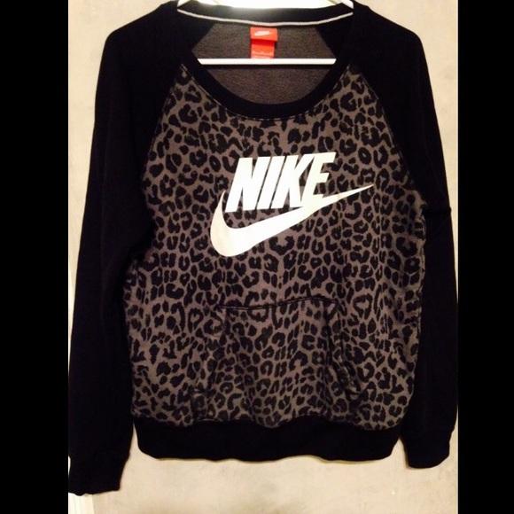 leopard nike crew neck
