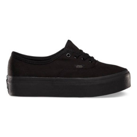 vans authentic platform zwart